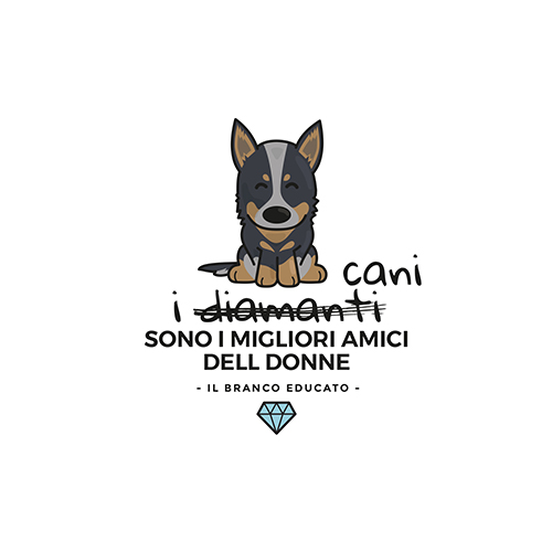 design cattle dog diamante