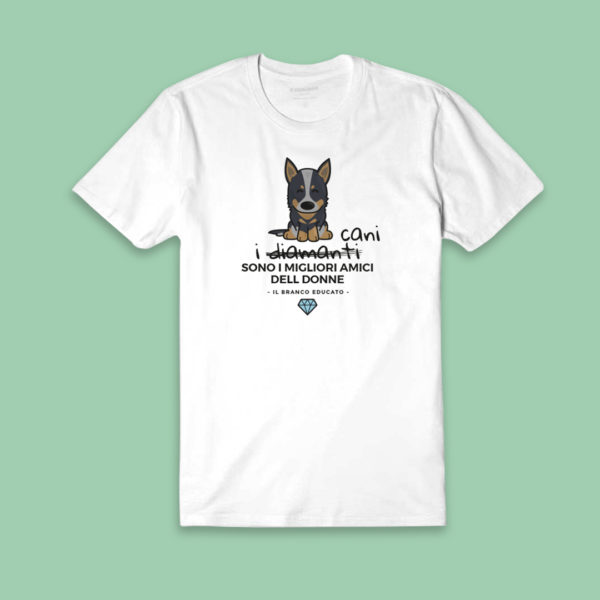 t-shirt cattle dog diamante